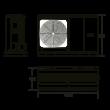 Hajdu HPAW-8 fűtési/hűtési levegő-víz hőszivattyú