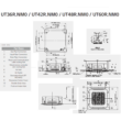 LG Standard UT36R/UU37WR Kazettás Split klíma szett