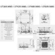 LG Standard UT48R/UU49WR Kazettás Split klíma szett